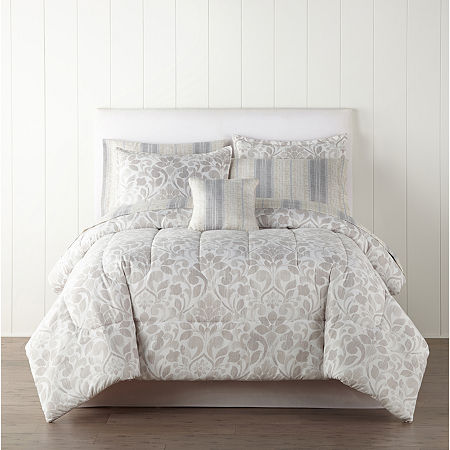 Home Expressions Ellis Trees + Leaves Complete Bedding Set with Sheets, One Size , Multiple Colors