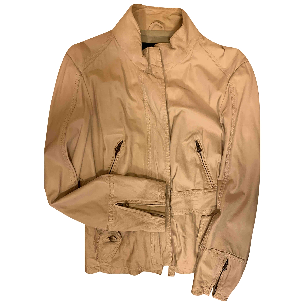 Max & Co \N Leather Leather jacket for Women 42 IT