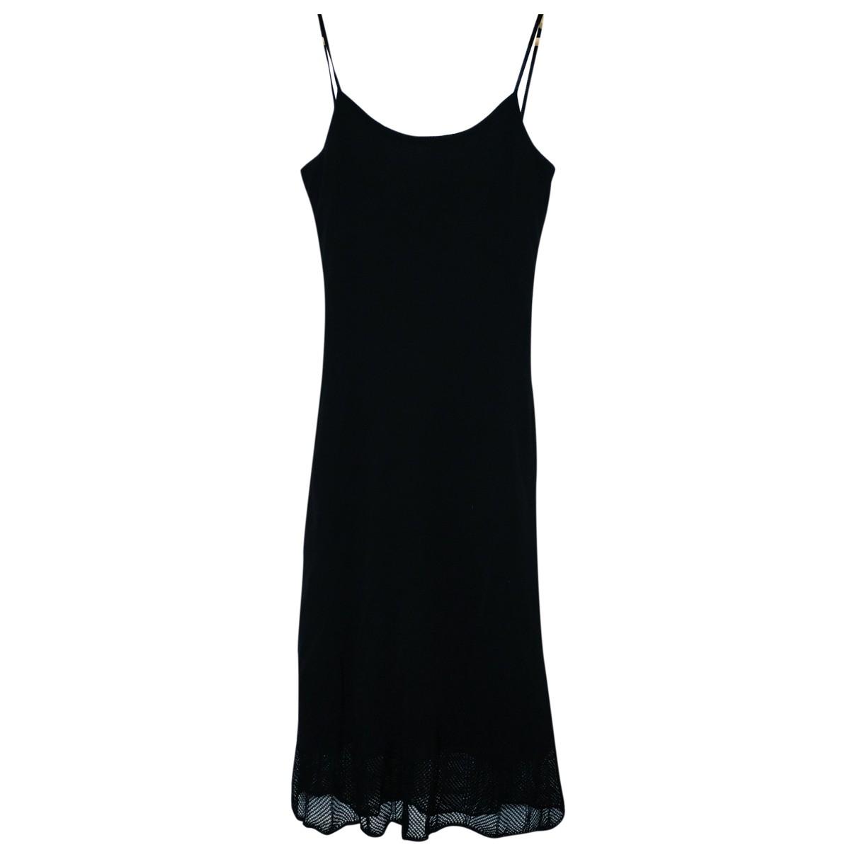 Non Signe / Unsigned \N Kleid in  Schwarz Viskose