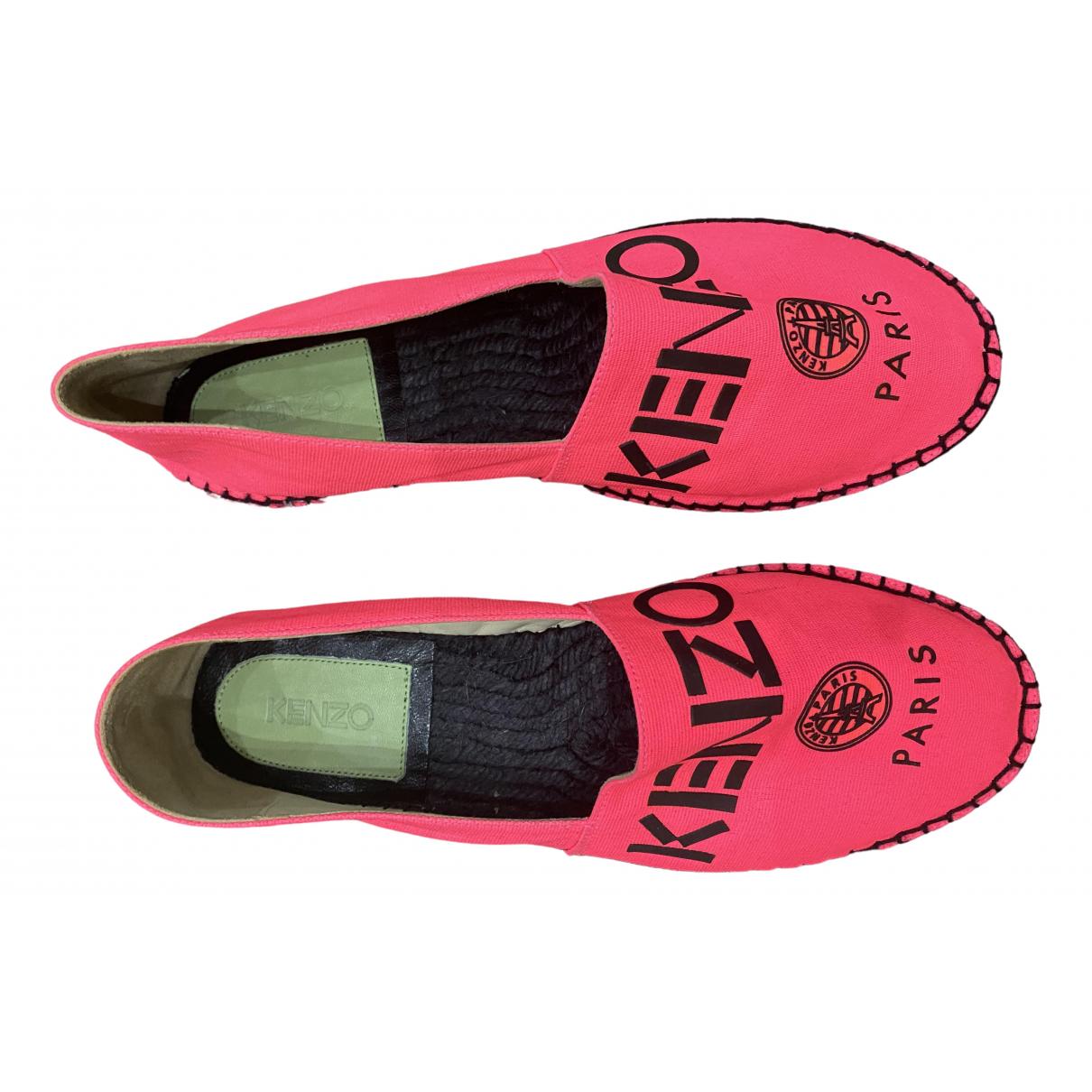 Kenzo \N Espadrilles in  Rosa Leinen