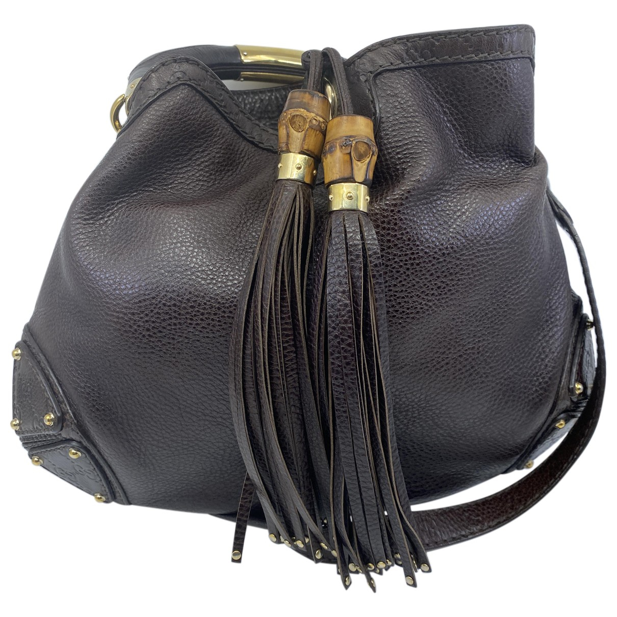 Gucci Indy Brown Leather handbag for Women N