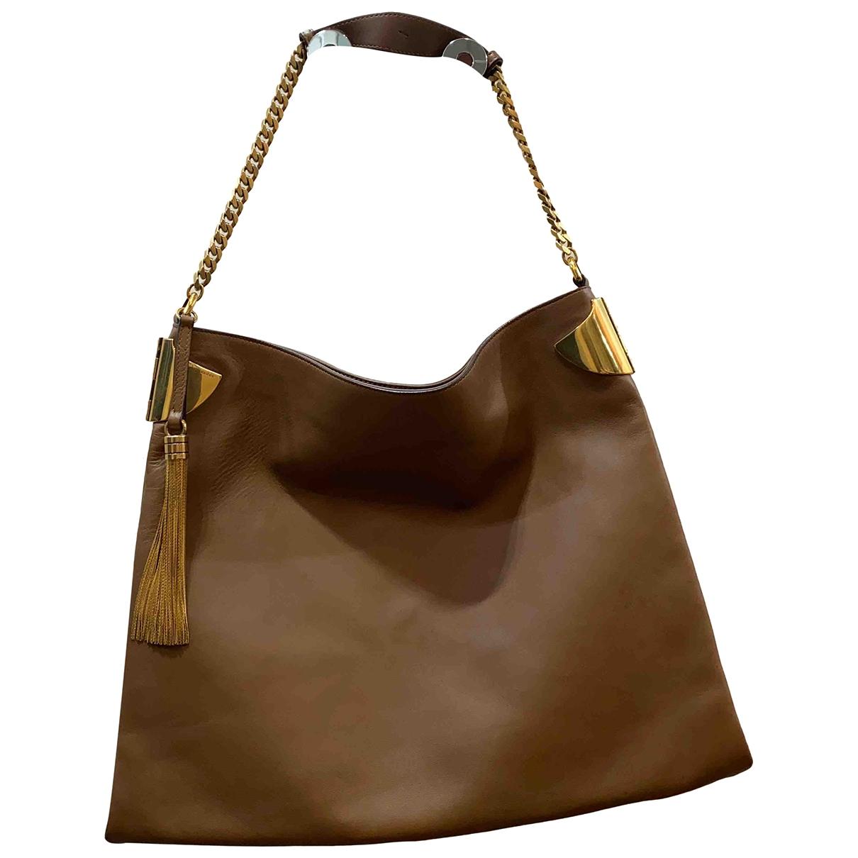 Gucci \N Handtasche in  Kamel Leder