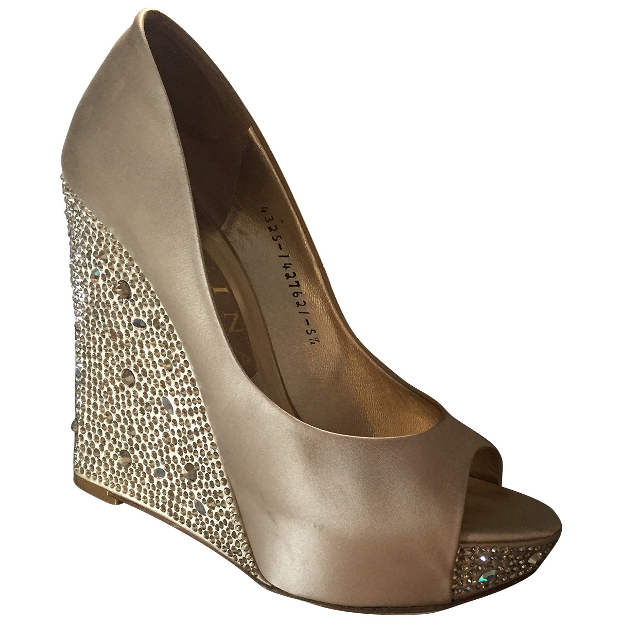 Gina \N Gold Cloth Heels for Women 5.5 UK