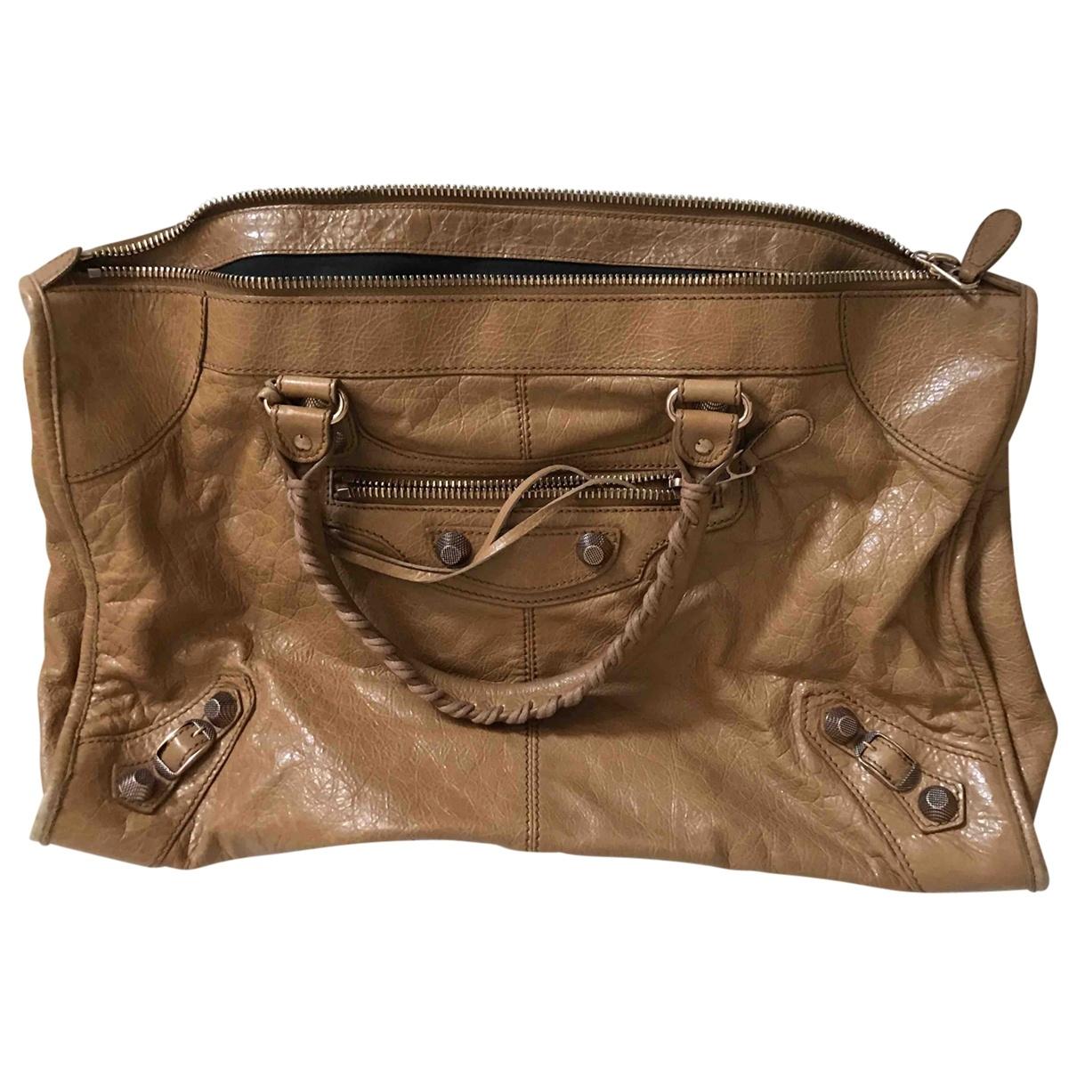 Balenciaga - Sac a main Work pour femme en cuir - marron