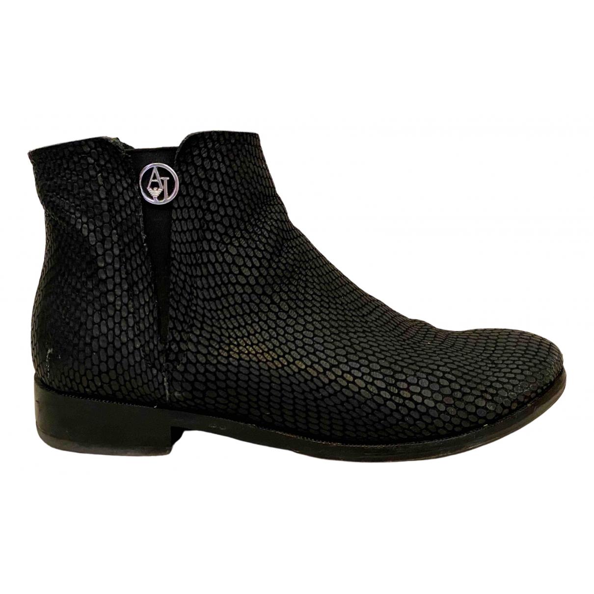 Armani Jeans \N Stiefeletten in  Schwarz Python