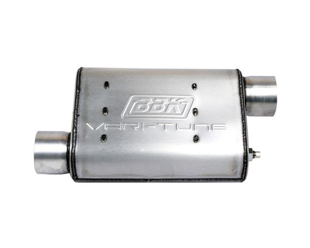 BBK 3102 Performance Parts UNIVERSAL 2-3/4 VARITUNE ADJUSTABLE MUFFLER DOUBLE OFFSET (ALUMINIZED)