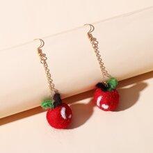 Ohrringe mit Apfel Design