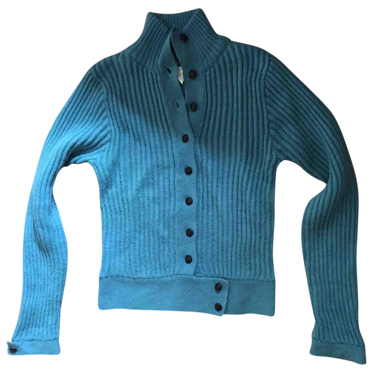 Claudie Pierlot - Pull   pour femme en laine - bleu