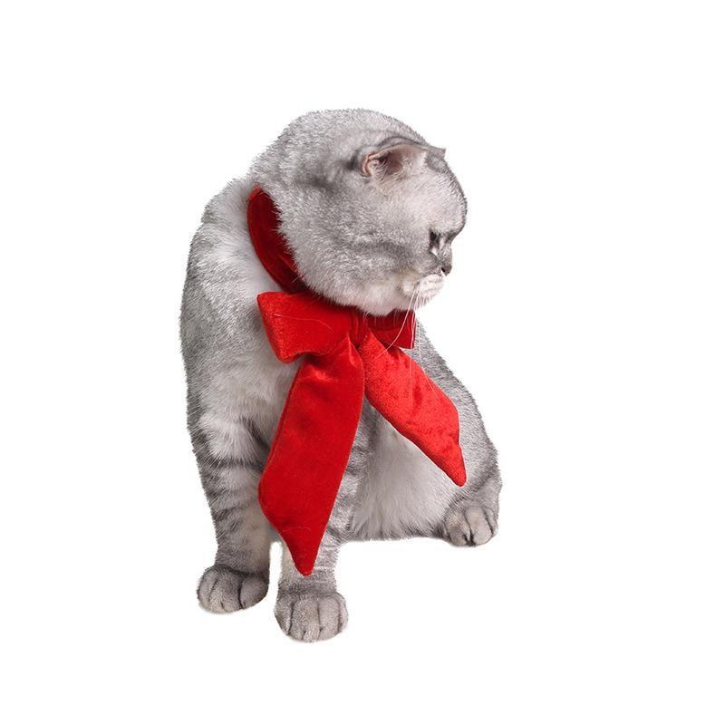 Retro Gentleman Pet Show Bow Tie Holiday Flannel Big Bow