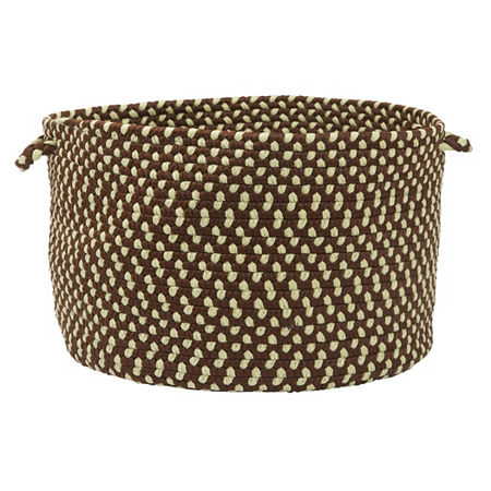 Colonial Mills Montego Braided Indoor or Outdoor Storage Basket, One Size , Brown