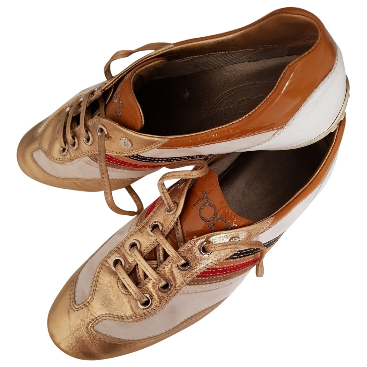 Tods \N Sneakers in  Gold Leder