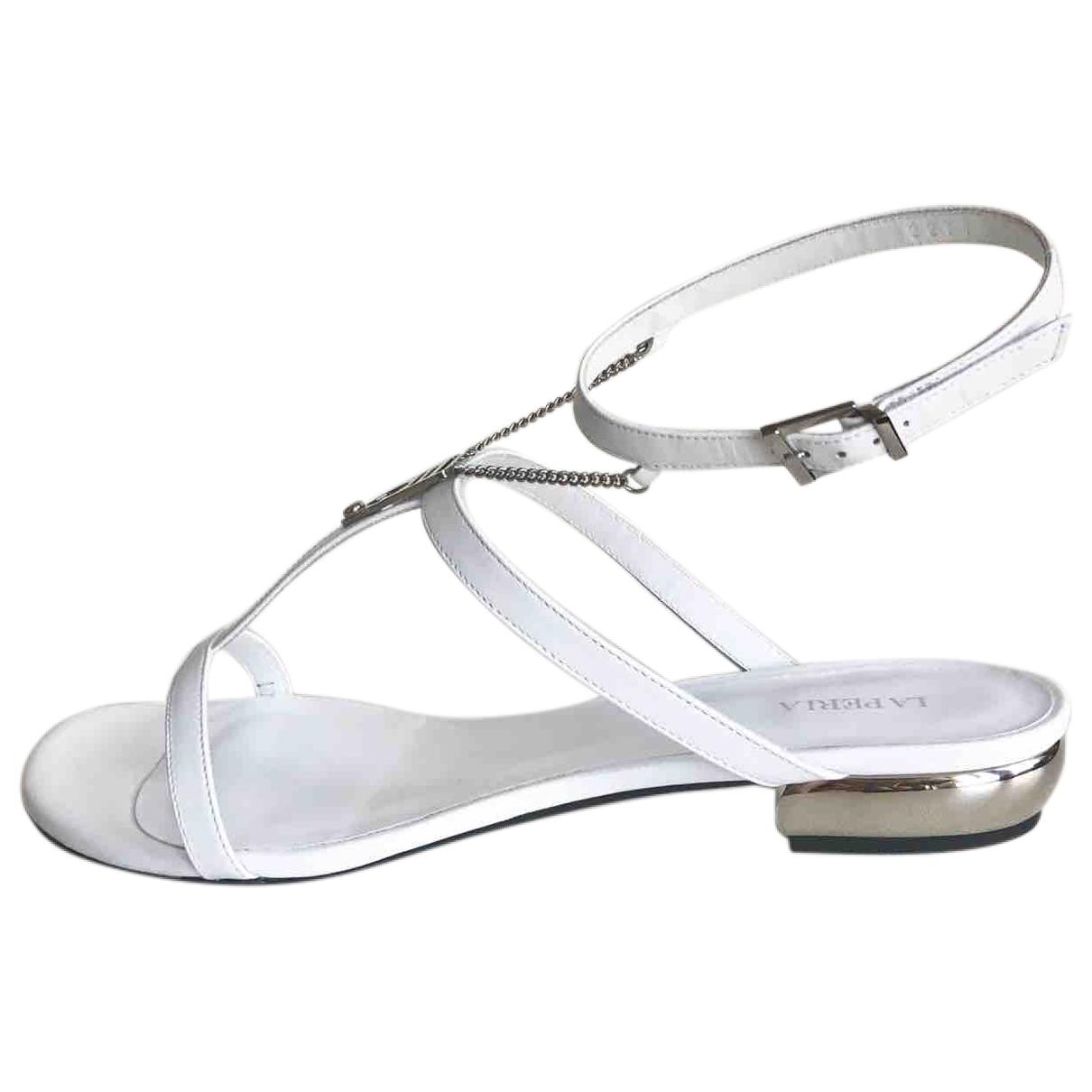 La Perla - Sandales   pour femme en cuir - blanc