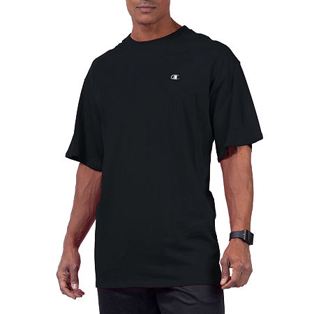 Champion-Big and Tall Mens Crew Neck Short Sleeve T-Shirt, 3x-large Tall , Black