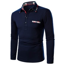 Men Contrast Trim Polo Shirt