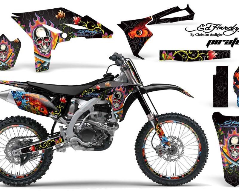 AMR Racing Graphics MX-NP-YAM-YZ250F-10-13-EDHP K Kit Decal Sticker Wrap + # Plates For Yamaha YZ250F 2010-2013 EDHP BLACK