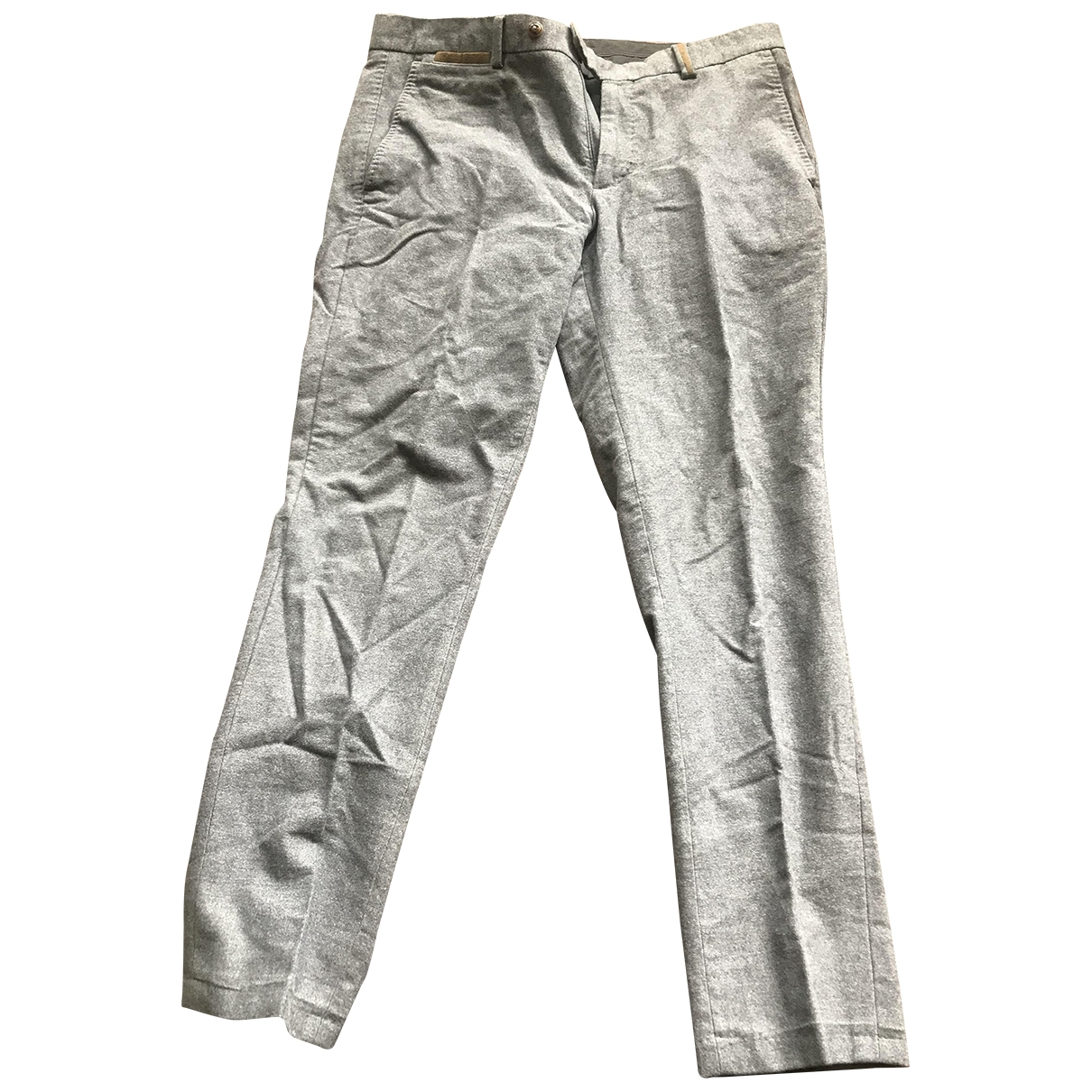 Massimo Dutti \N Grey Cotton Trousers for Men 30 UK - US