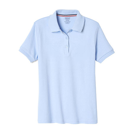 French Toast Toddler Girls Short Sleeve Polo Shirt, 3t , Blue