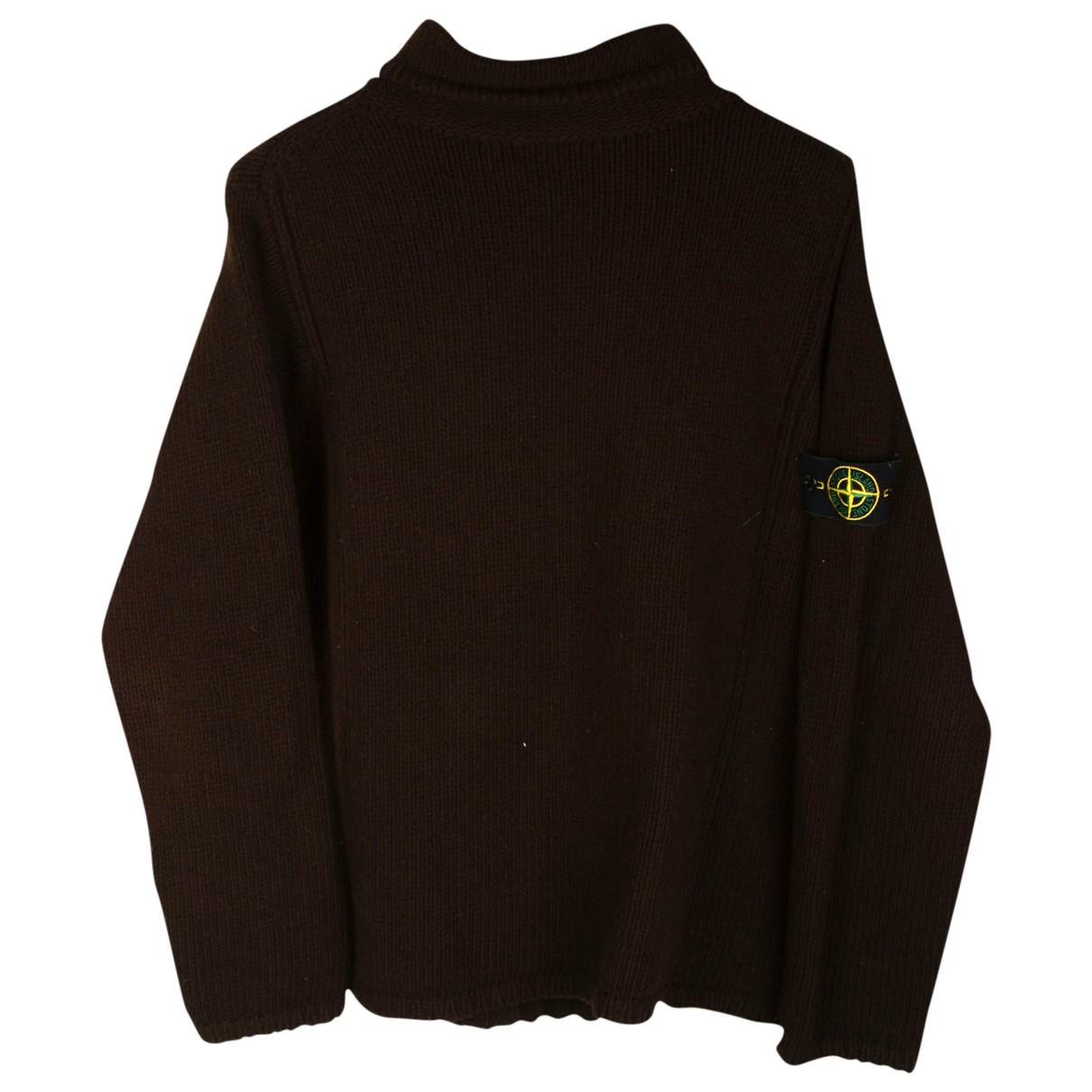 Stone Island \N Pullover.Westen.Sweatshirts  in  Braun Wolle
