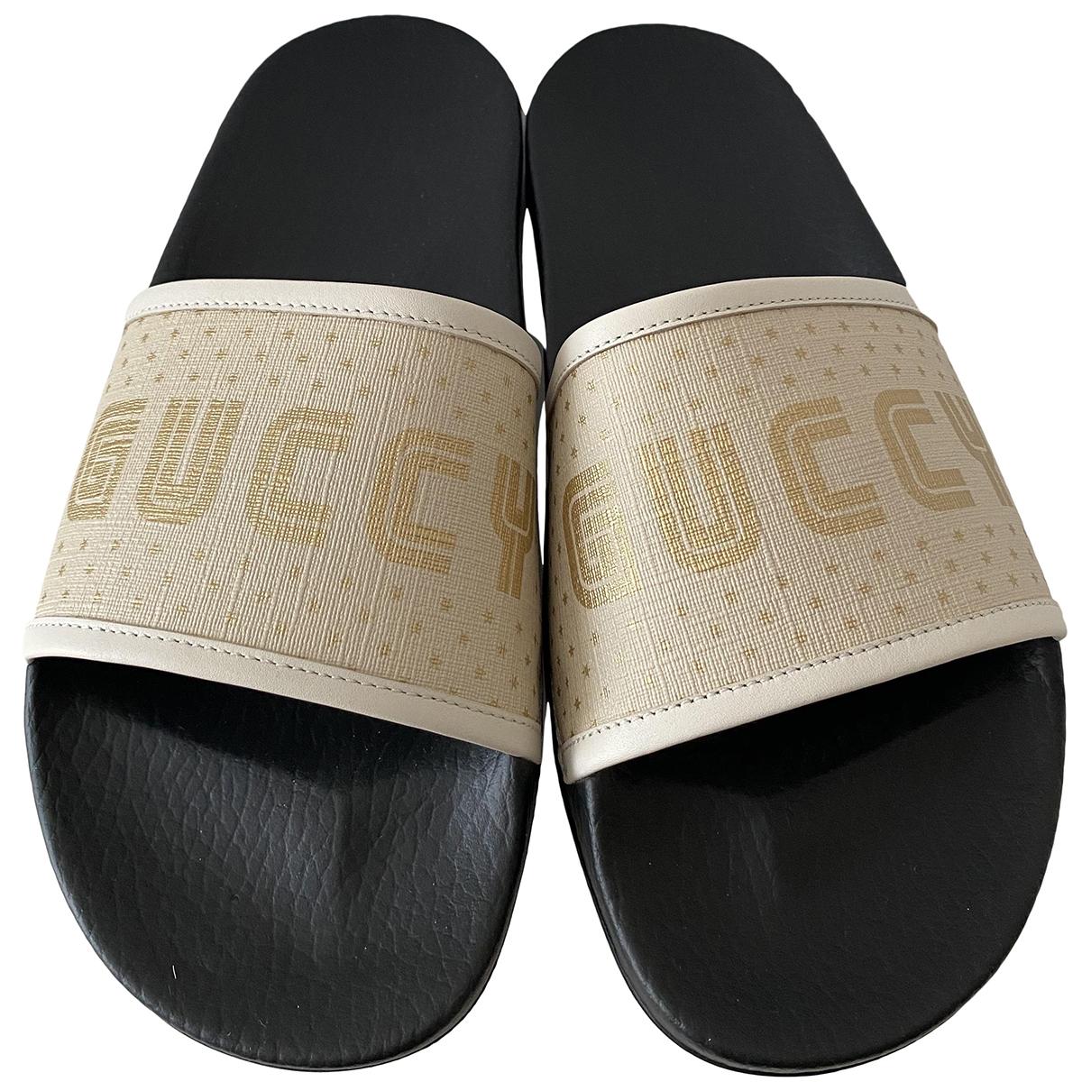 Gucci - Sabots   pour femme en cuir - beige