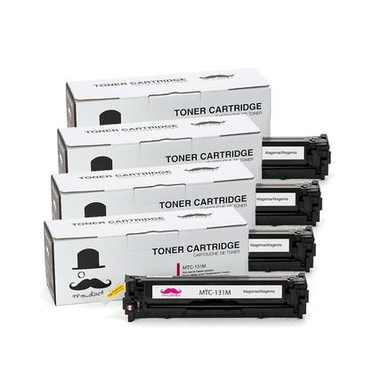 Compatible Canon 131M cartouche d'encre magenta - Moustache - 4/paquet