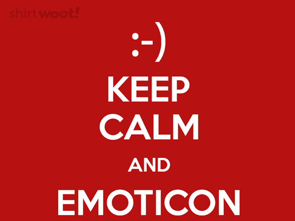 Keep Calm And Emoticon T Shirt
