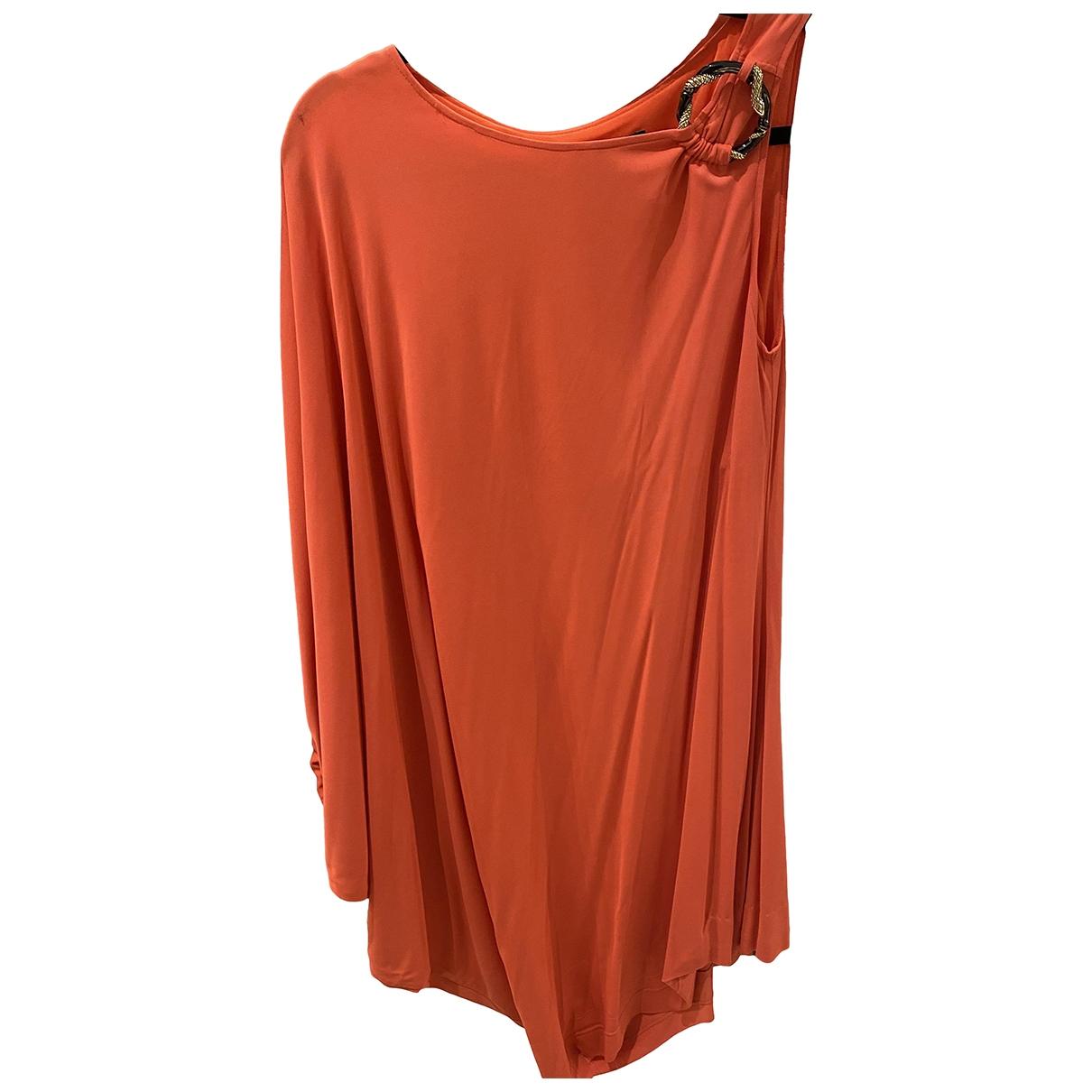 Class Cavalli \N Kleid in  Orange Viskose