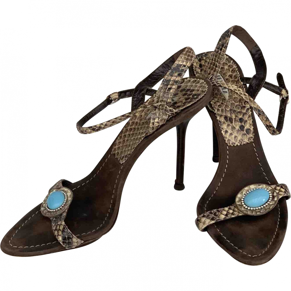 Le Silla \N Brown Water snake Sandals for Women 39 EU