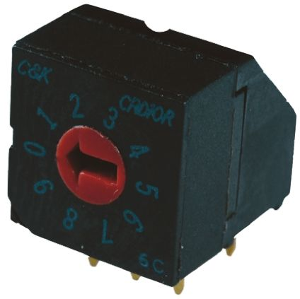 C & K 16 Way Through Hole DIP Switch Rotary, Flush Actuator