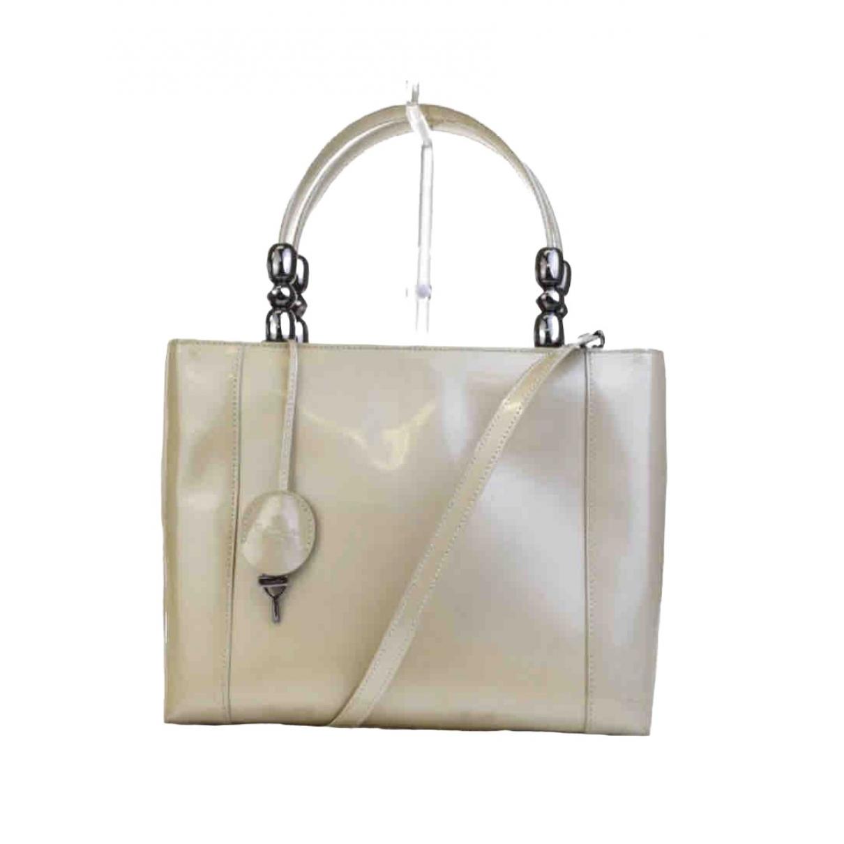 Dior Lady Perla Beige Patent leather handbag for Women \N