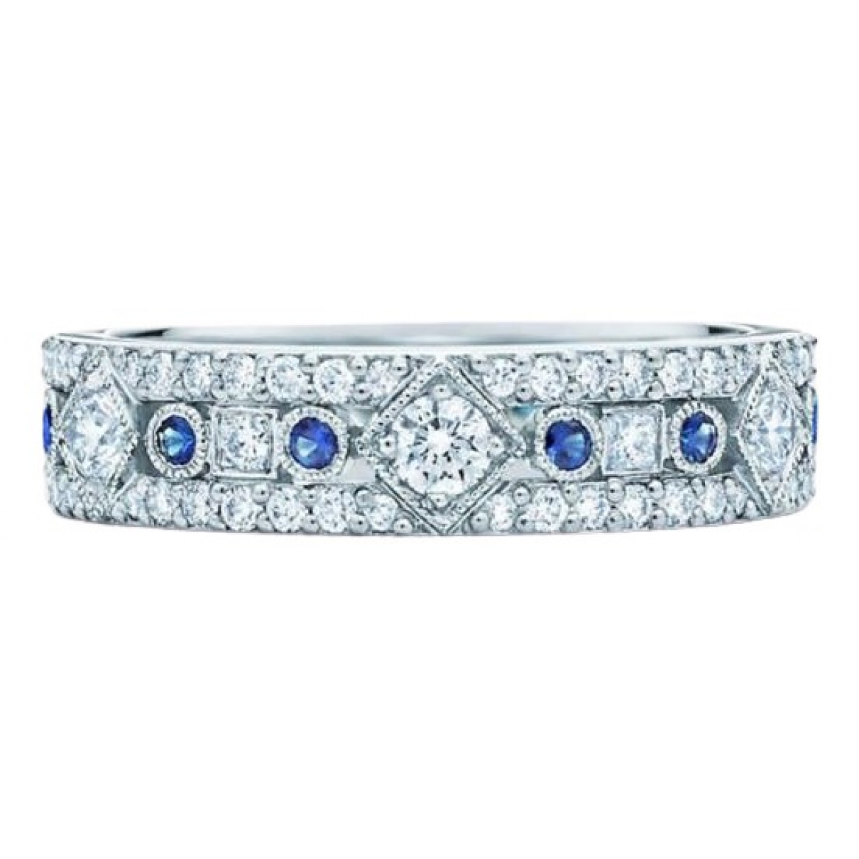 Tiffany & Co \N Ring in  Silber Platin