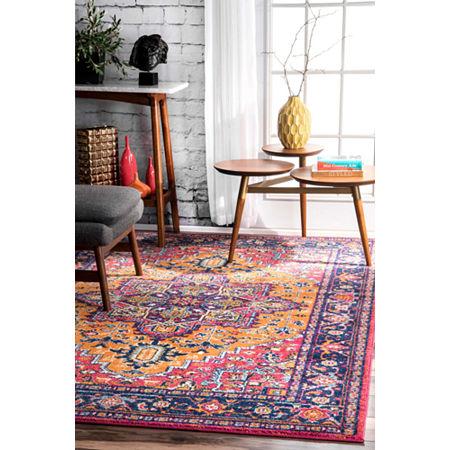 nuLoom Fancy Persian Vonda Rug, One Size , Orange