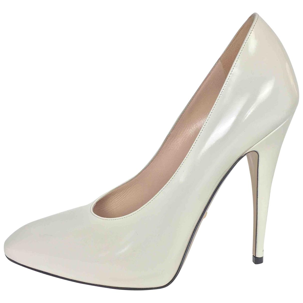 Gucci \N White Leather Heels for Women 38.5 EU