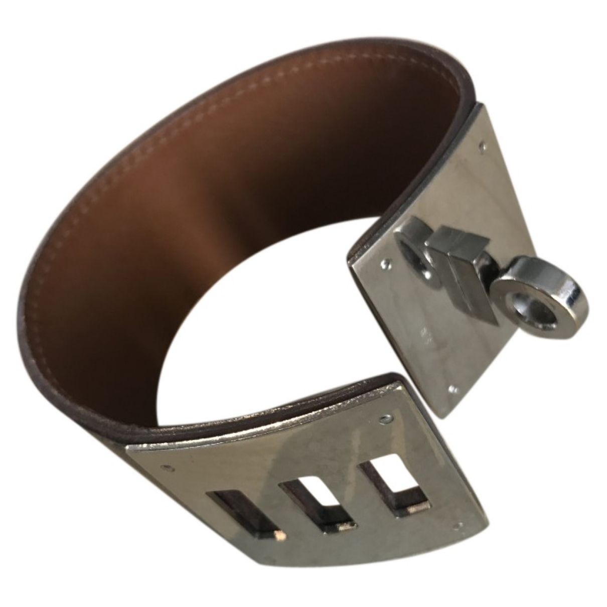 Hermès Kelly Brown Leather bracelet for Women \N