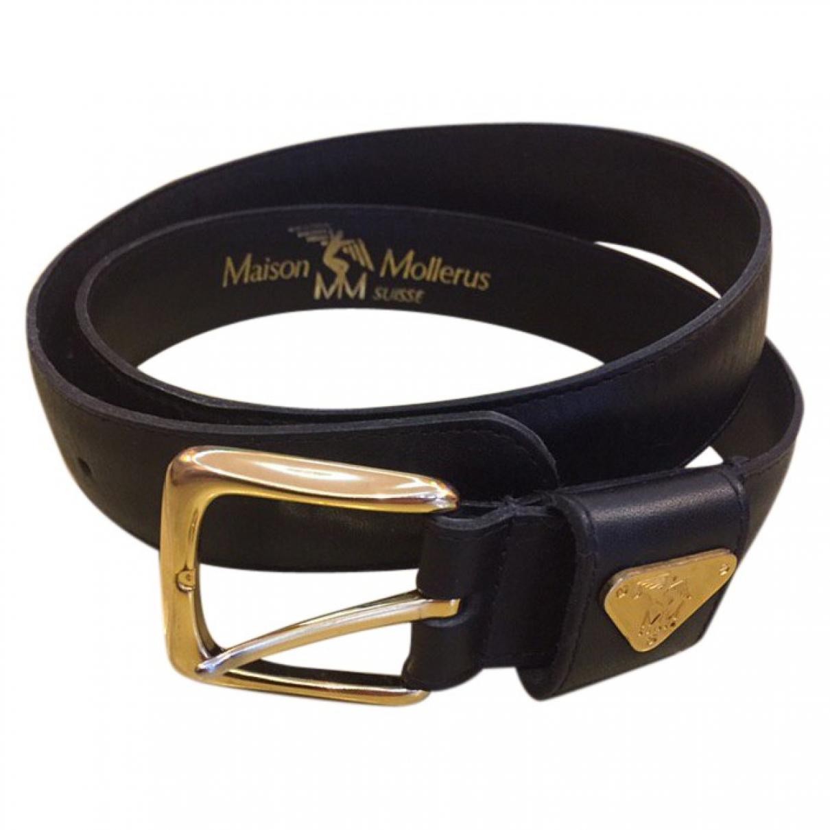 Mollerus \N Guertel in  Schwarz Leder