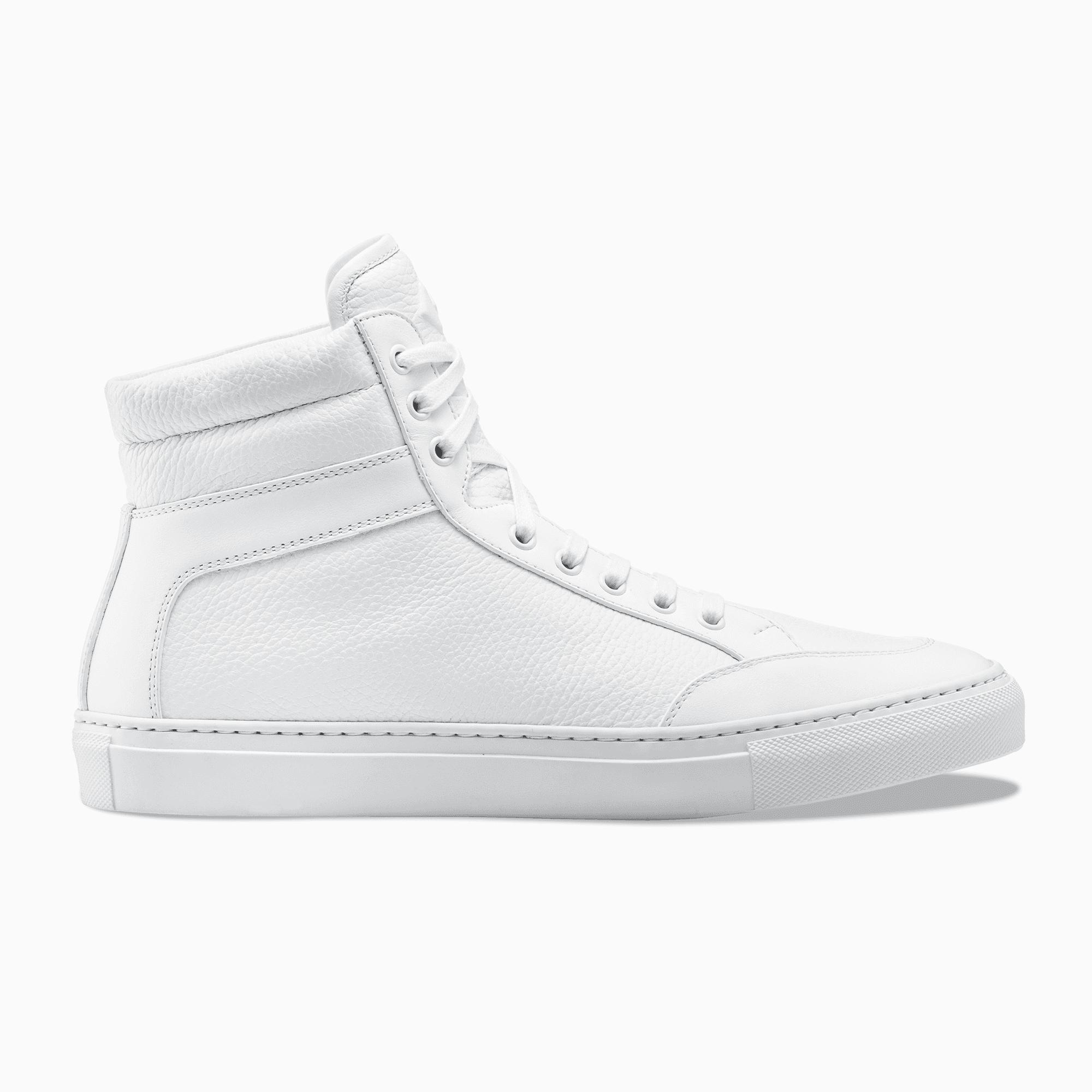 KOIO Men's High Top Triple White White Leather Suede Primo 10 (US) / 43 (EU)