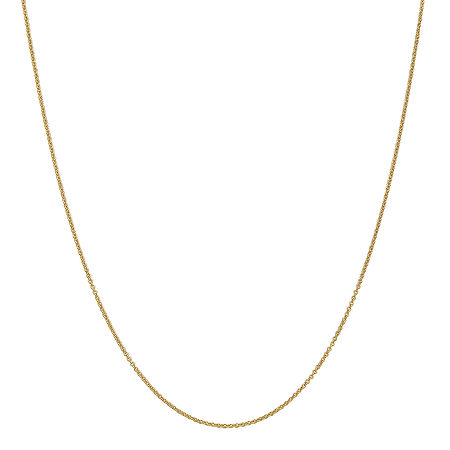14K Gold Solid Cable Chain Necklace, One Size , No Color Family