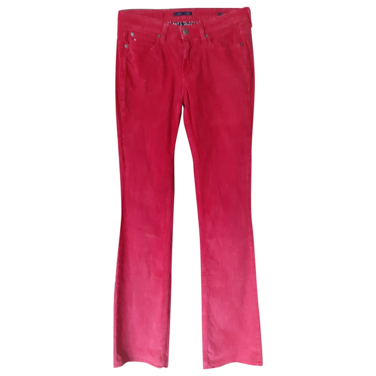 Tommy Hilfiger \N Red Cotton Jeans for Women 27 US