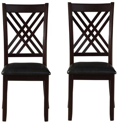 Katrien Collection 71857 Set of 2 Side Chairs with Overlapped