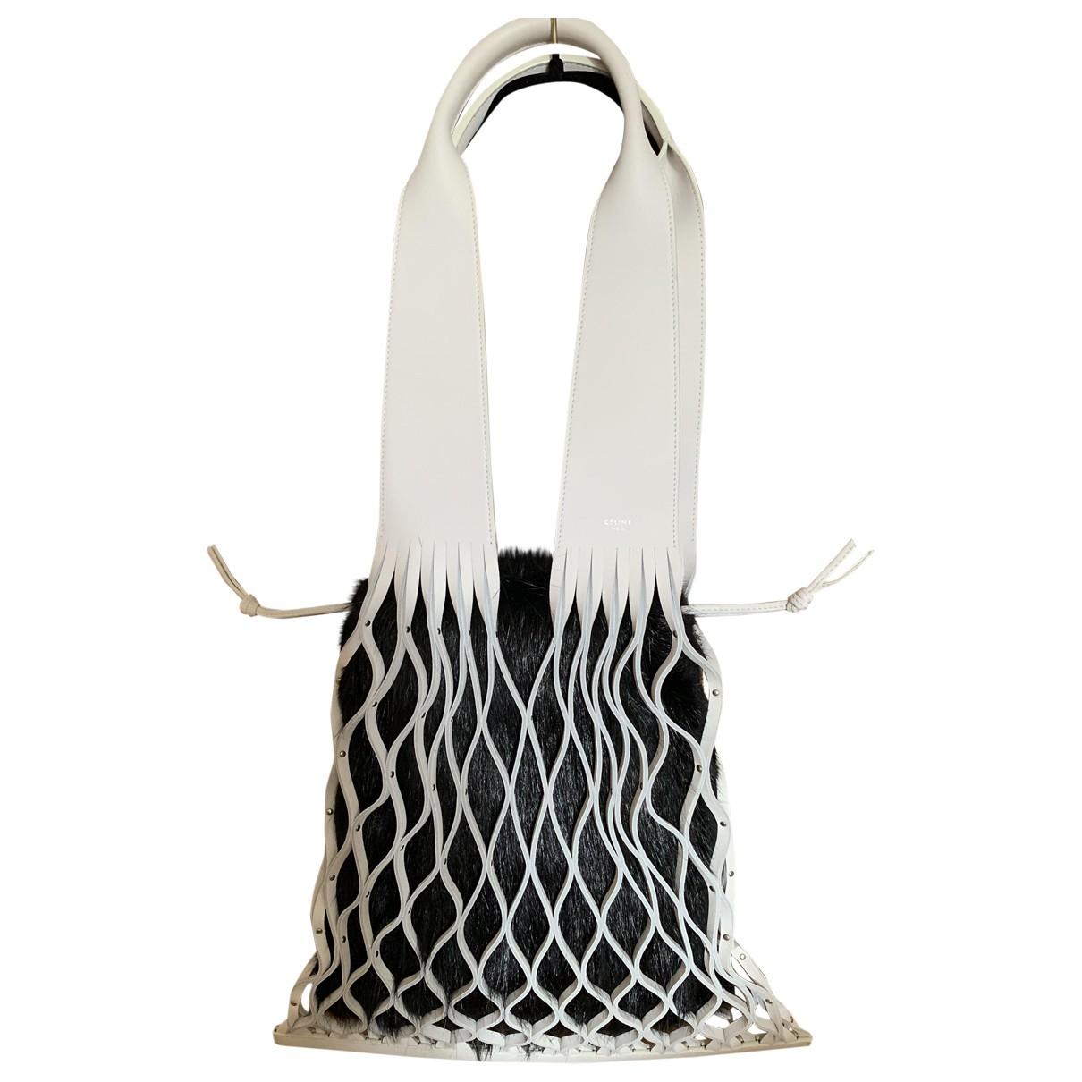 Celine \N White Leather handbag for Women \N