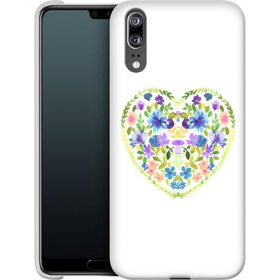 Huawei P20 Smartphone Huelle - Love Folk Olive Green von Amy Sia