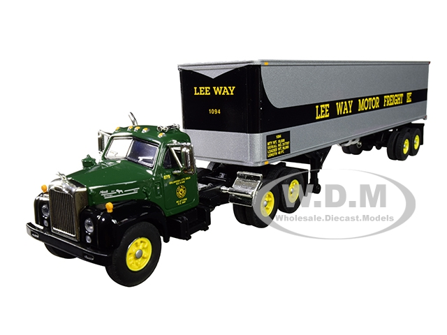 Mack B-61 Day Cab with 40 Vintage Trailer