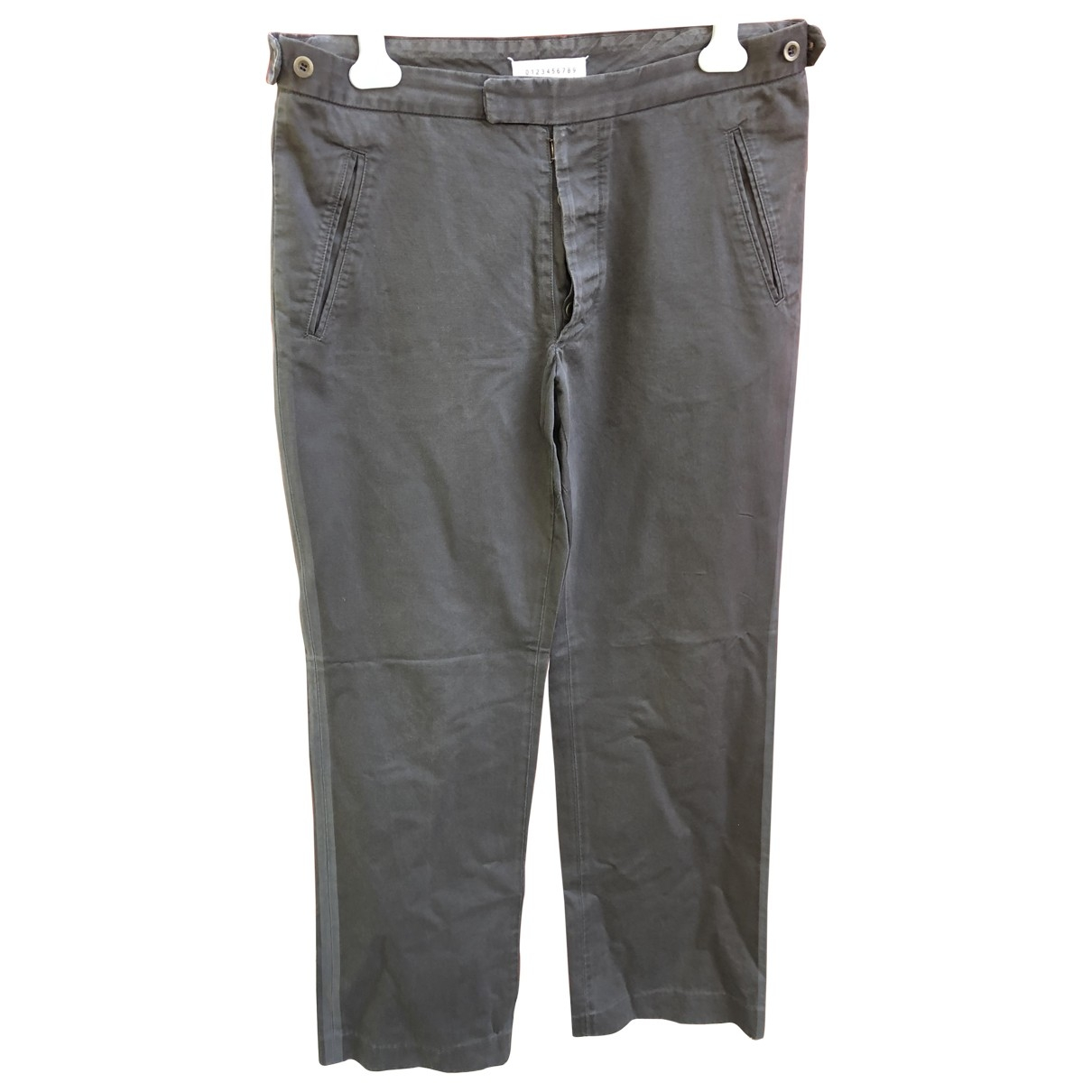 Maison Martin Margiela \N Grey Cotton Trousers for Men 50 IT