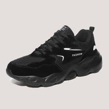Zapatillas deportivas gruesas anchas de hombres con cordon delantero