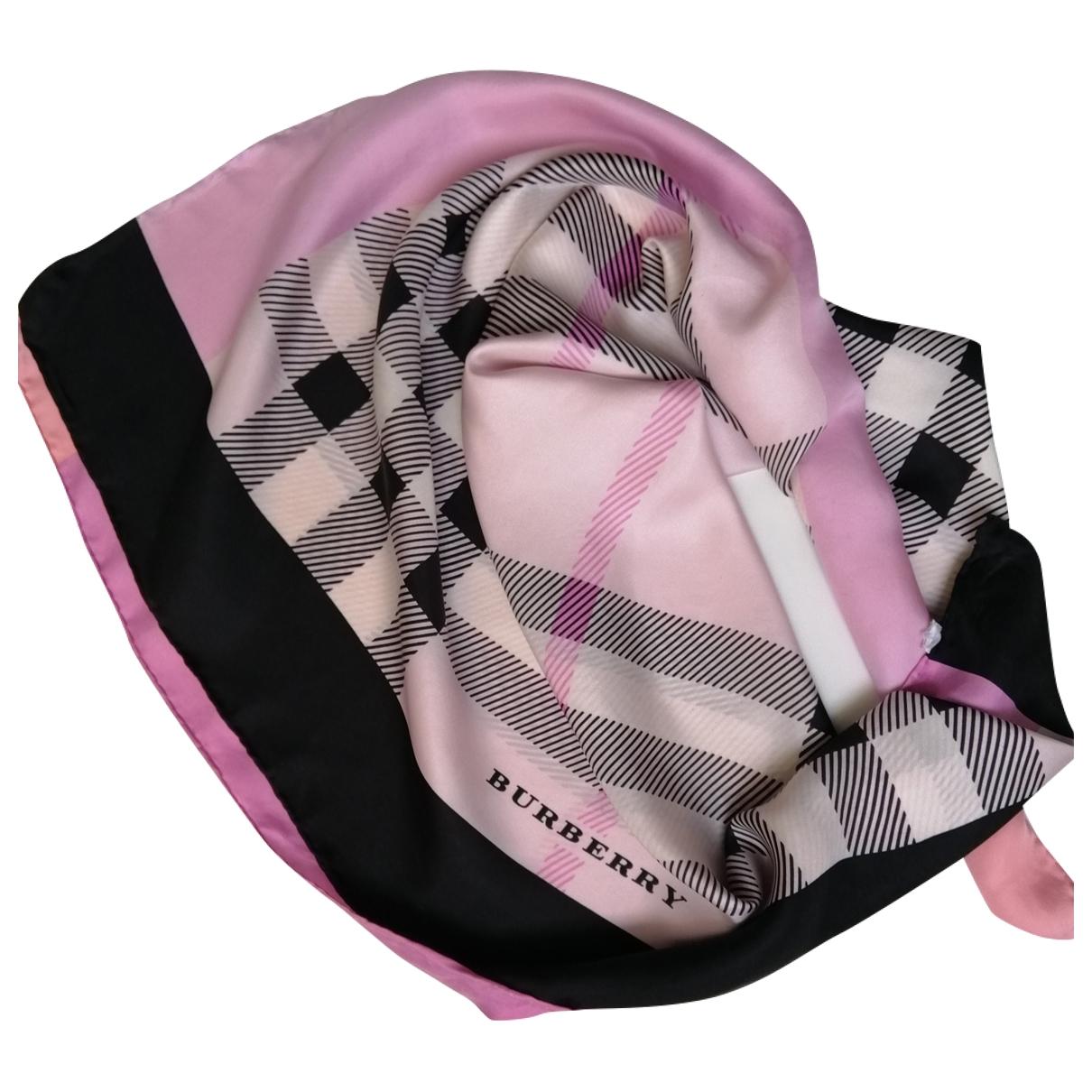Burberry - Carre   pour femme en soie - multicolore