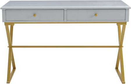 AC130DESKGRY Campaign 2 Drawer Desk  in