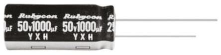 Rubycon 470μF Electrolytic Capacitor 25V dc, Through Hole - 25YXH470MEFC8X20 (10)