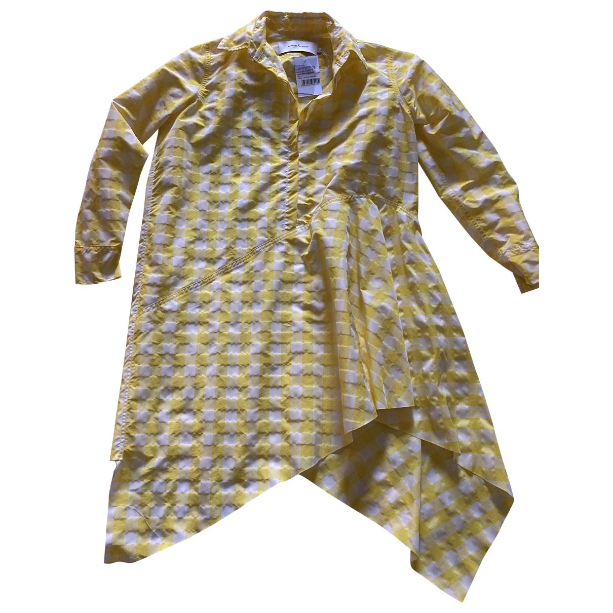 Marques Almeida \N Kleid in  Gelb Polyester