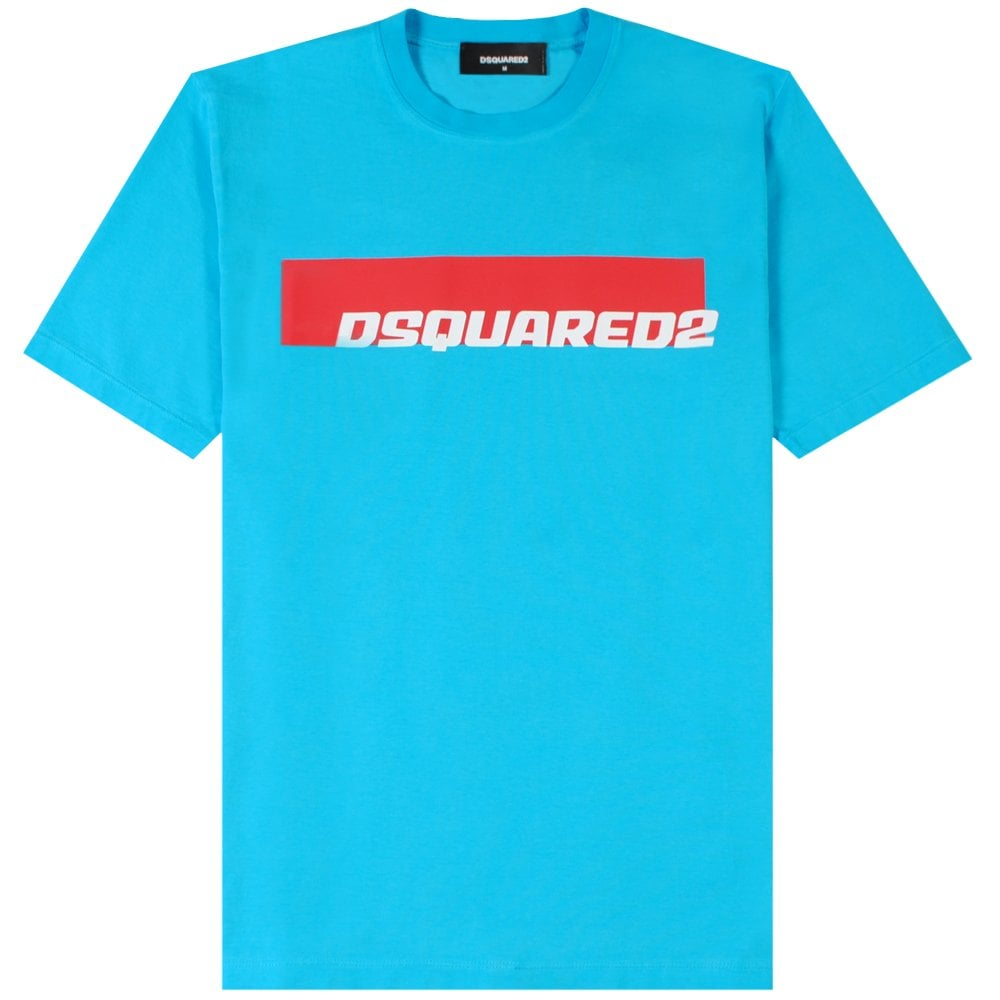 Dsquared2 Logo Print T-Shirt  Colour: LIGHT BLUE, Size: SMALL