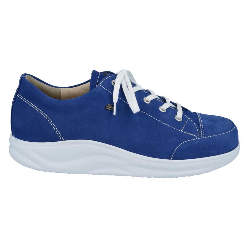 Finn Comfort Ikebukuro Cobalt Blue Nubuck Soft Footbed 4 Uk