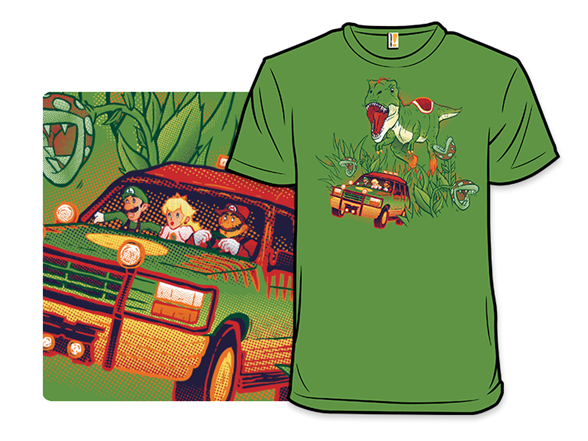 Jurassic Mario T Shirt